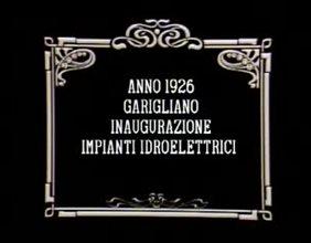 Anno 1926 Garigliano innaugurazione impianti idroelettrici