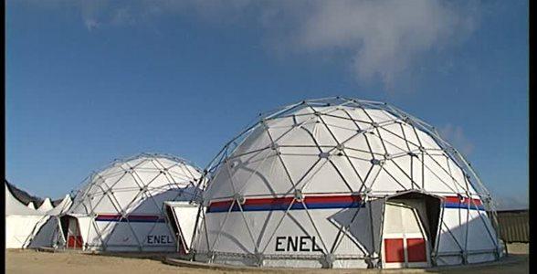 Terremoto Umbria  - Intervento Enel con cupole container