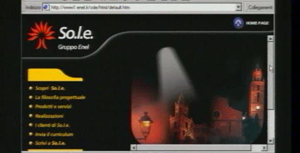 So.l.e. - Schermate sito internet