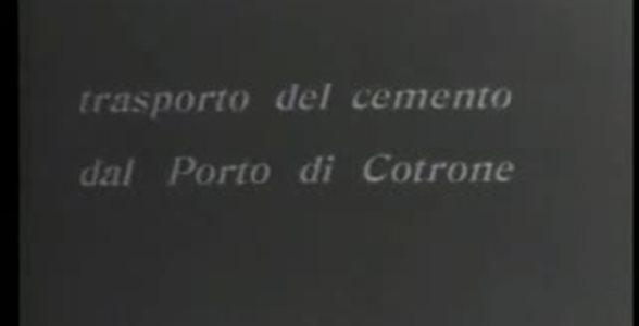 Trasporto del cemento dal porto di Crotone